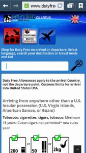 Duty Free mobile