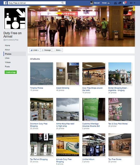 Arrivals Duty Free Facebook photos